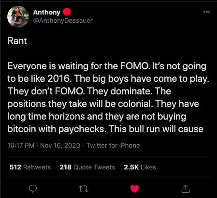 A Bullish Rant of Hope with @AnthonyDessauer